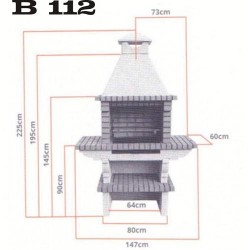 Barbacoa b 112 con parrilla incluida - Medidas de barbacoas ...